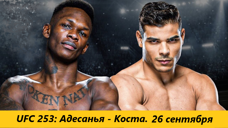 Прямая трансляция UFC 253: