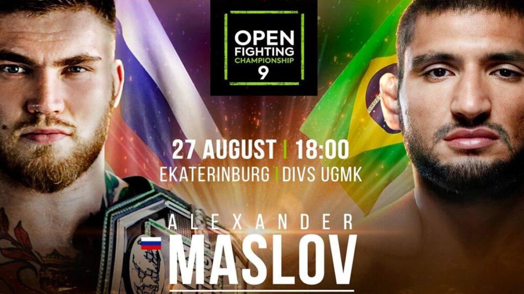Open FC 9: Александр Маслов vs Винисиуса Морейры прямая трансляция