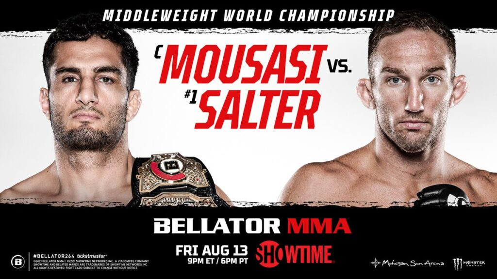 Прямая трансляция Bellator 264: Мусаси - Сэлтер