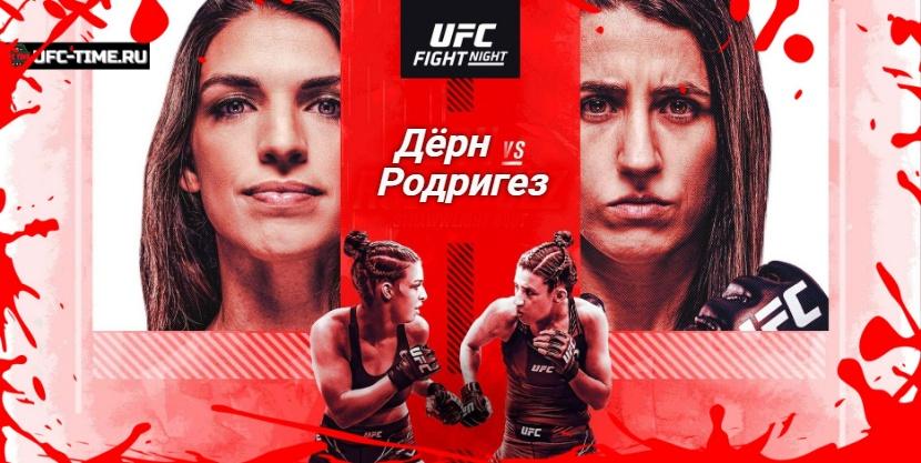 UFC Vegas 39: Дёрн - Родригес прямая трансляция